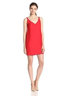 French Connection Women's Crystal Crepe Shift Dress, Royal Scarlet, 6
