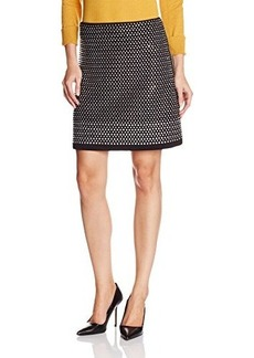 French Connection Women's Diamond Rock Jersey Skirt, Black, 0