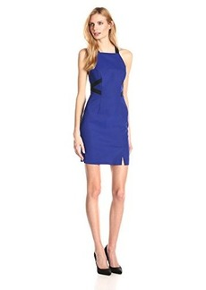 French Connection Women's Edyta Stretch Strappy Colorblock Dress, Monarch Blue, 10