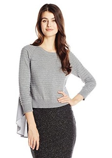 French Connection Women's Effie Knits Sweater, Grey Melange, Large