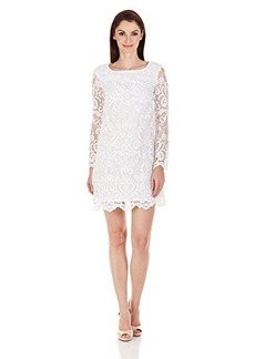 French Connection Women's Electric Mosaic Cotton Dress, Summer White, 10