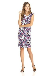 French Connection Women's Electric Mosaic Dress, Electric Blue/Multi, 0