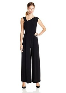 French Connection Women's Emma Crepe Sleeveless Jumpsuit, Black, 2