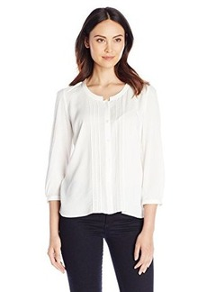 French Connection Women's Empire Dot Top, Summer White, 2
