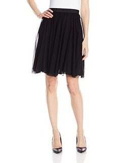 French Connection Women's Fast Angelica Tulle Skirt, Black, 8