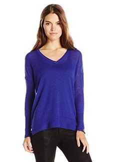 French Connection Women's Feather Light Knits V-Neck Sweater, Prince Rocks, Large