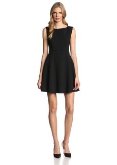 French Connection Women's Feather Ruth Classic Fit and Flare Dress, Black, 0