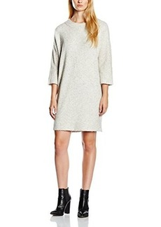 French Connection Women's Flossy Knits Long Sleeve Tunic, Light Oatmeal Melange, Large
