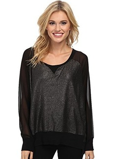 French Connection Women's Foil Ditton Sweatshirt, Black, Medium