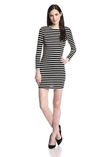 French Connection Women's French Stripe Dress, Black/Winter White, 6