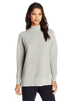 French Connection Women's Fresh Ottoman Knits Turtleneck Sweater, Light Grey Melange, Small