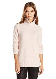 French Connection Women's FT RSVP Knits Turtleneck Sweater, Belle Blush, Large