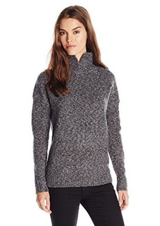 French Connection Women's FT RSVP Knits Turtleneck Sweater, Grey Melange, Large