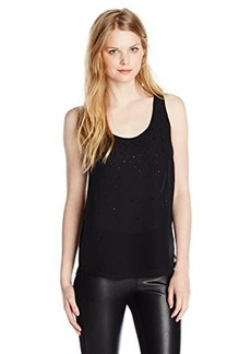 French Connection Women's Glitter Spells Top, Black, 10