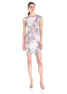 French Connection Women's Graffiti Grid Jersey Dress, Multi, 12