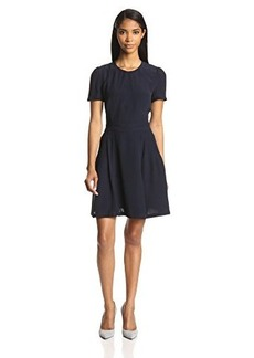 French Connection Women's Hannah Crepe Short-Sleeve Fit-and-Flare Dress