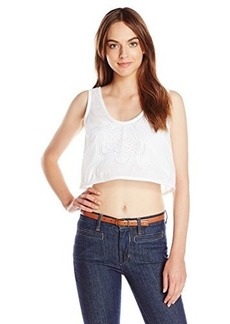 French Connection Women's Harlan Cotton Crop Top, Summer White, 8
