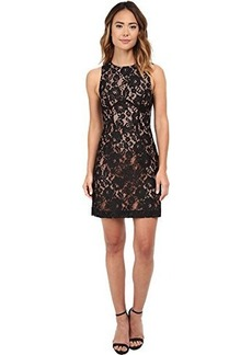 French Connection Women's Heartbreaker Sleeveless Lace, Black/Nude, 2