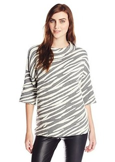 French Connection Women's Kalinka Sweater, Light Grey Melange, Small