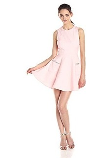 French Connection Women's Lickety Split Fit and Flare Dress, Pink, 12