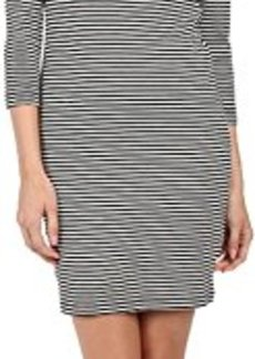 French Connection Women's Licorice Lines Long Sleeve Dress, Summer White/Black, 6