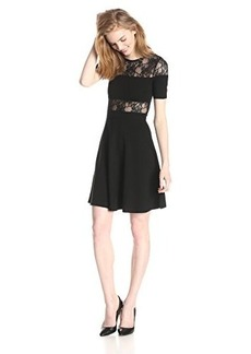 French Connection Women's Linear Wrap Short-Sleeve Dress