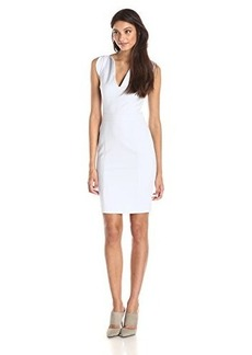 French Connection Women's Lolo Stretch Dress, Crystal Clear, 0
