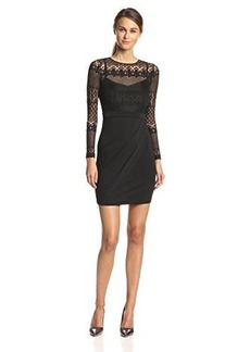 French Connection Women's Long-Sleeve Lace Sheath Dress