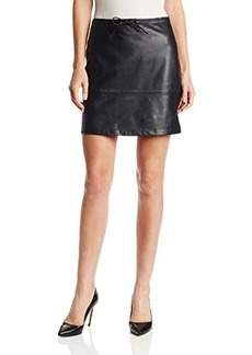 French Connection Women's Luxe Leather Skirt