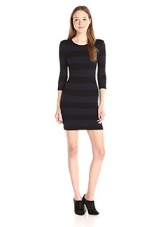 French Connection Women's Manhattan Winter Stripe Dress, Black/Utility Blue, 0