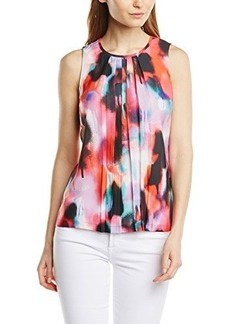 French Connection Women's Miami Graffiti Top, Key West Coral/Multi, 4