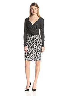 French Connection Women's Mini Paisley Party Dress