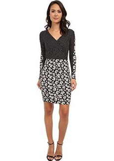 French Connection Women's Mini Paisley Party Dress, Black/Multi, 4