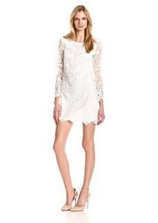 French Connection Women's Nebraska Lace Long-Sleeve Dress