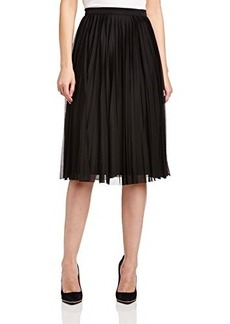 French Connection Women's Nightshade Pleats Skirt, Black, 4