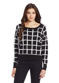 French Connection Women's Paint Check Knits