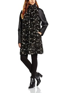 French Connection Women's Penny Wool Coat, Black, 8