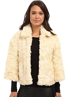 French Connection Women's Polar Teddy Jacket, Cream, 4