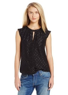 French Connection Women's Polka Sparks Top, Black, 8