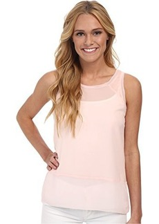 French Connection Women's Polly Plains Raw Edge Sleeveless Top, Deco Blush, Large