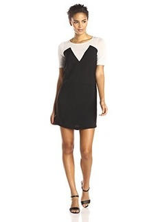 French Connection Women's Polly Plains Sports Dress, Black/Grey, 4