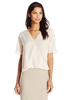 French Connection Women's Polly Wrap Top, Belle Blush, 0