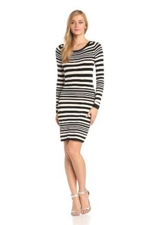 French Connection Women's Real Jag Knit Stripe Long Sleeve Dress