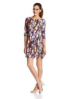 French Connection Women's Record Ripple Drape Printed Dress, Prince Rocks Multi, 0