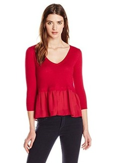 French Connection Women's Ripple Knits Sweater, Morello, Large