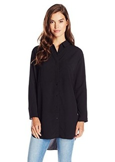 French Connection Women's Samantha Shirting Tunic, Black, 6