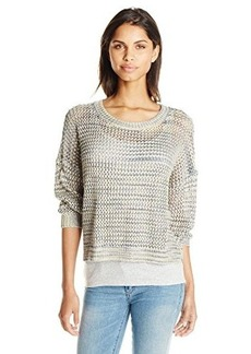 French Connection Women's Shimmer Mesh Knits Sweater, Multi Mel Lurex, Large
