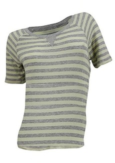 French Connection Women's Short Sleeve Ditton Top, Grey Melange/Acid Zet, Large