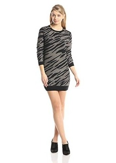 French Connection Women's Siberian Tiger Sweater Dress