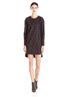 French Connection Women's Soho Check Long Sleeve Plaid Dress, Multi, 8